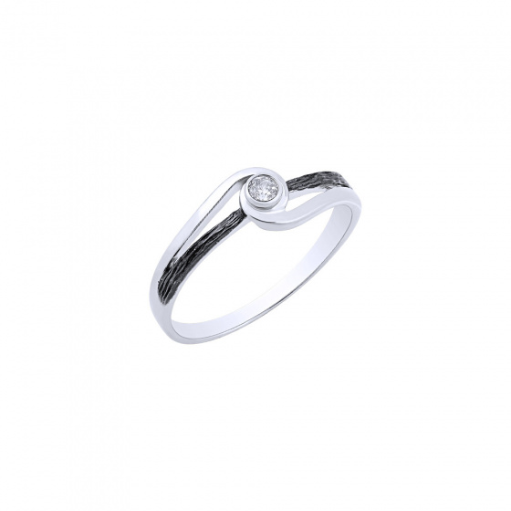 """Image of """"""""Epicenter"""" silver ring"""""""