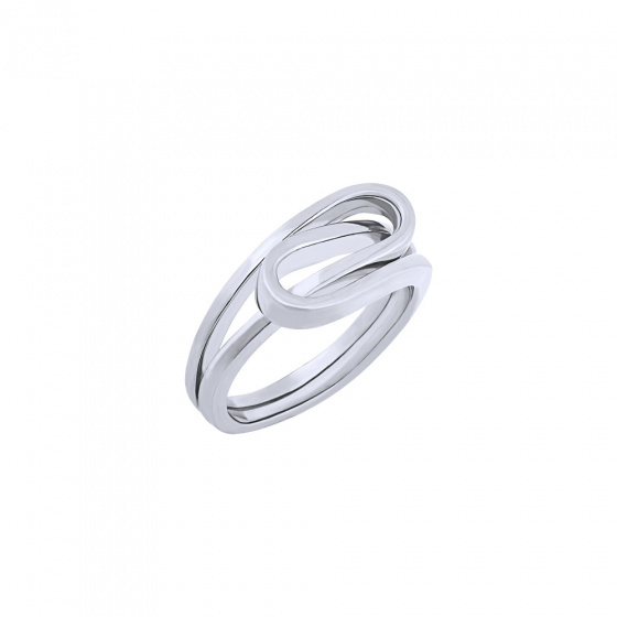 """Image of """"""""Raging Waves"""" silver ring"""""""