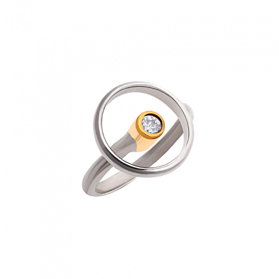 "Image of """"Transparent Circle"" silver ring"""