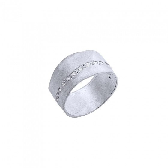 "Image of """"Natural Effect"" silver ring"""