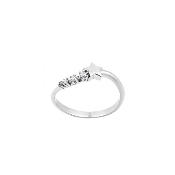 """Image of """"""""Lucky Star"""" silver ring"""""""