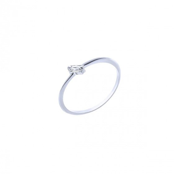 """Image of """"""""Baguette"""" silver ring"""""""