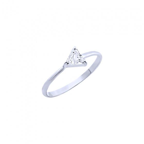 """Εικόνα του """"Ασημένιο δαχτυλίδι """"Triangle"""""""""""