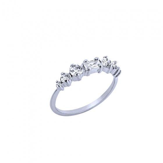 """Εικόνα του """"Ασημένιο δαχτυλίδι """"Crystallized"""""""""""