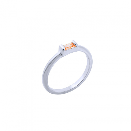 "Image of """"Exquisite Orange Baguette"" inel din argint"""