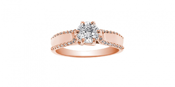 "Image of """"Emblem of Light"" rose gold ring K9"""