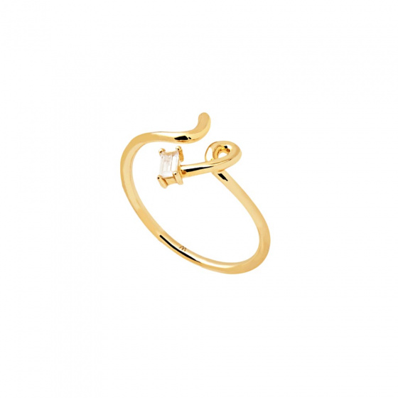 "Image of ""PDPAOLA ""Nema"" silver ring gold plated"""