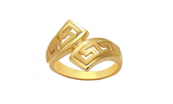 """Image of """"""""Eternal Flow"""" silver ring gold plated"""""""