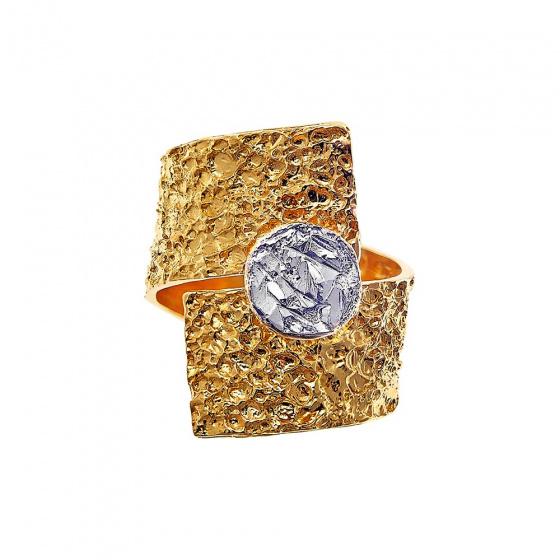 """Εικόνα του """"Δαχτυλίδι """"Volcanic Rock"""" (Επίχρυσο ασήμι 925)"""""""