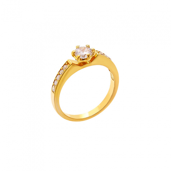 """Image of """"""""Brightness"""" silver ring gold plated"""""""