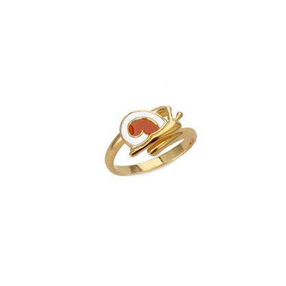"Image of """"Lovely Snail"" silver children's ring gold plated"""