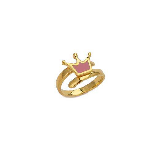 """Image of """"""""Lovely Crown"""" silver children's ring gold plated"""""""