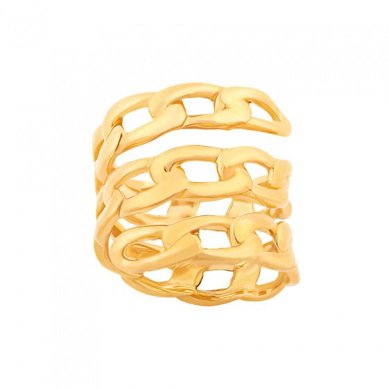 "Image of """"Break my Chains"" silver ring gold plated"""