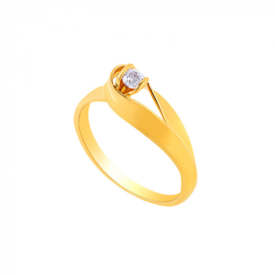 "Image of """"Lonely Star"" silver ring gold plated"""