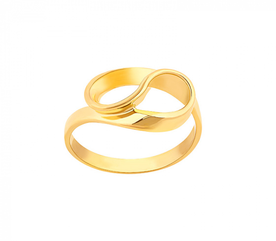 "Image of """"Infinito"" silver ring gold plated"""