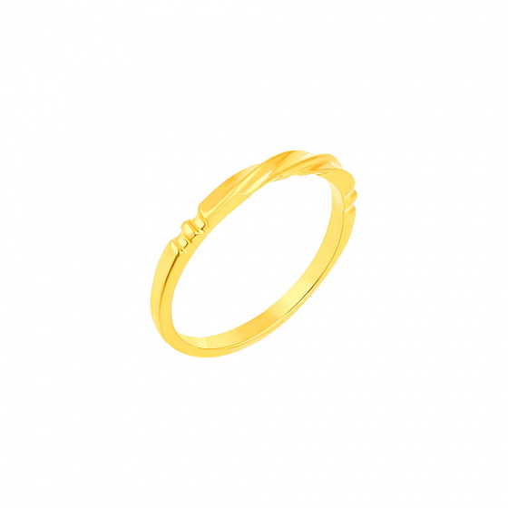 """Image of """"""""Fine Line"""" silver ring gold plated"""""""