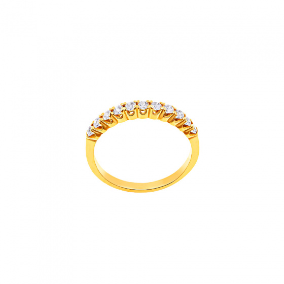 """Image of """"""""Magnificent"""" silver ring gold plated"""""""