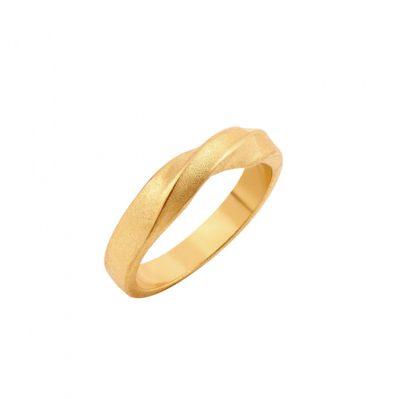 "Image of """"Mr Bond"" silver ring gold plated"""
