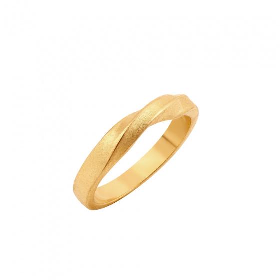 """Εικόνα του """"Ασημένιο δαχτυλίδι """"Mrs Bond"""" επίχρυσο"""""""