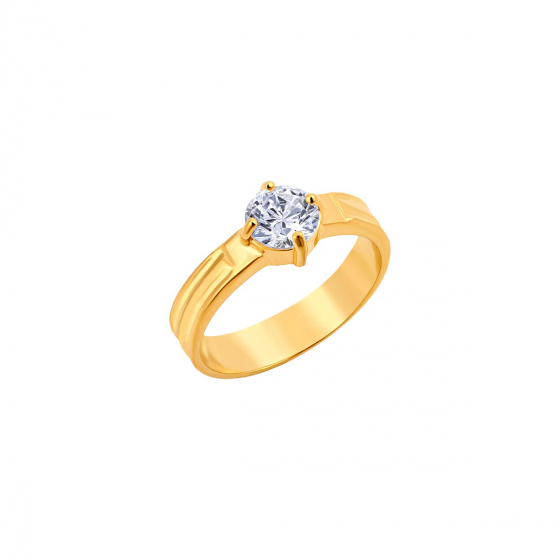"""Image of """"""""Majestic"""" silver ring gold plated"""""""