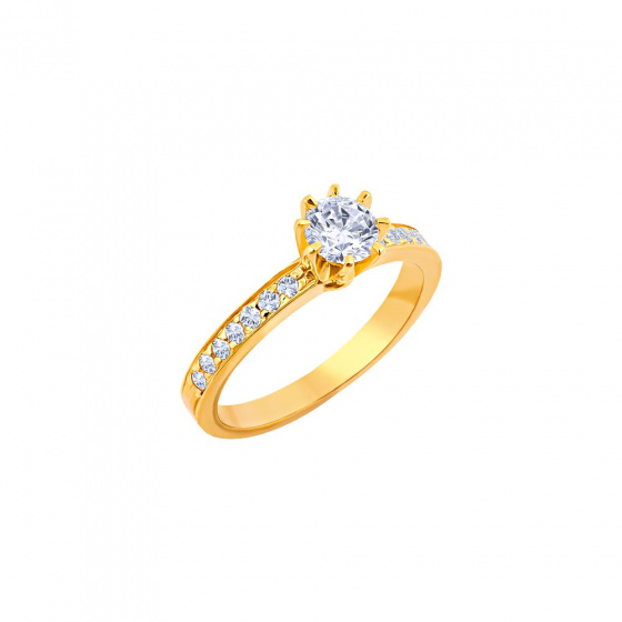 """Image of """"""""Delicate"""" silver ring gold plated"""""""