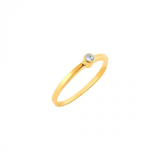 """Image of """"""""Fancy"""" silver ring gold plated"""""""