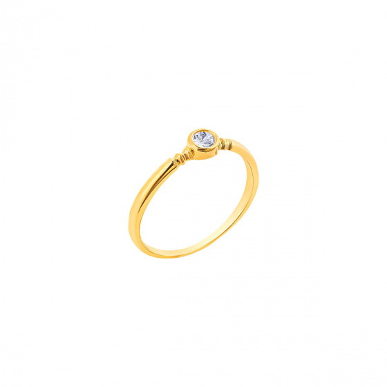 """Image of """"""""Pretty One"""" silver ring gold plated"""""""