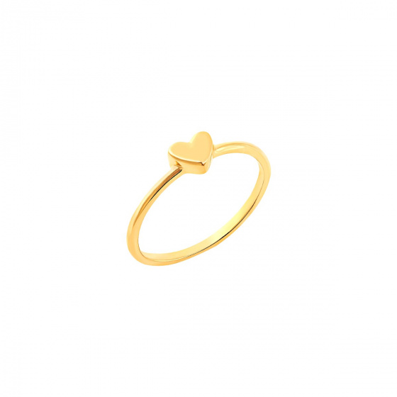 """Image of """"""""Festive Heart"""" silver ring gold plated"""""""
