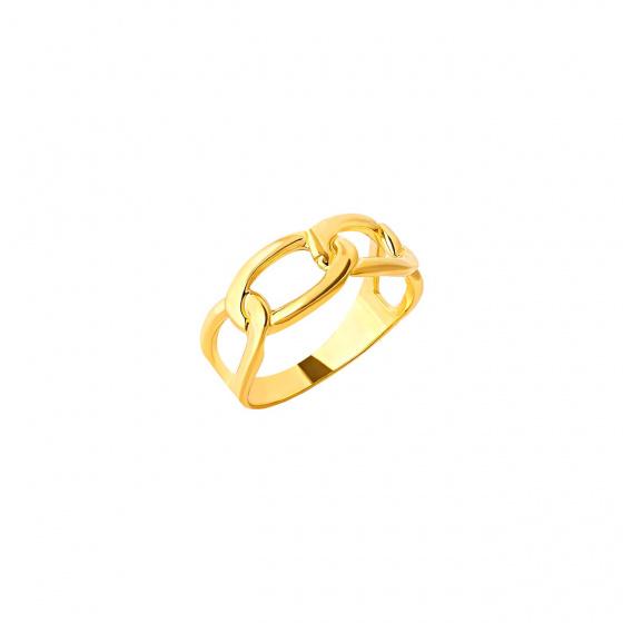 """Image of """"""""Bun"""" silver ring gold plated"""""""