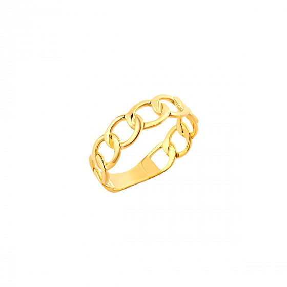 """Image of """"""""Wreath"""" silver ring gold plated"""""""