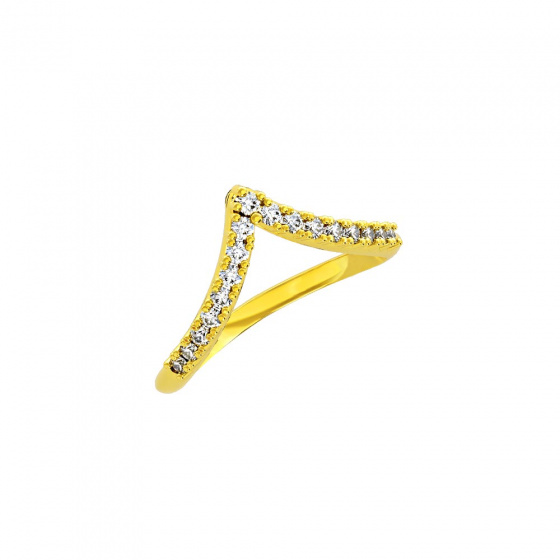"""Image of """"""""Alcyone"""" silver ring gold plated"""""""