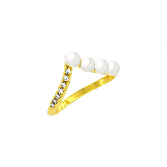"""Image of """"""""Alkistis"""" silver ring gold plated"""""""