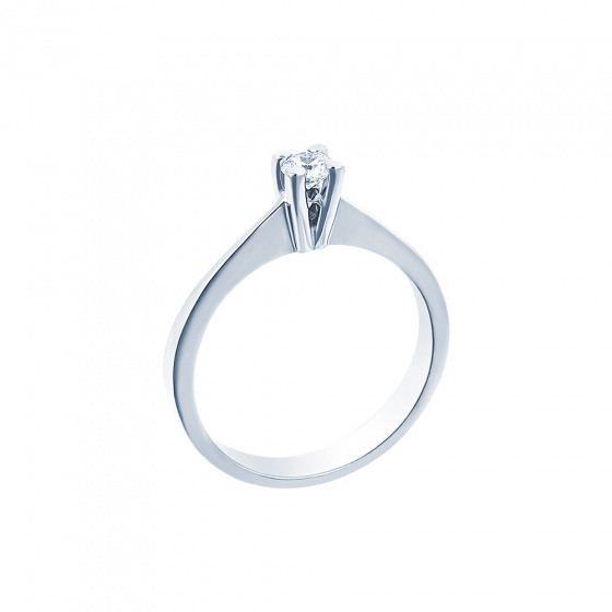 "Image of """"Eternity Premium 012"" white gold engagement ring K18 with VS2 diamond"""
