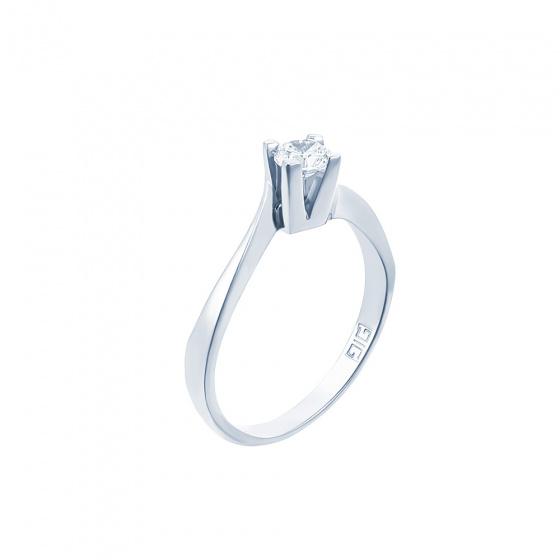 "Image of """"Eternity Premium 018"" white gold engagement ring K18 with VS2 diamond"""
