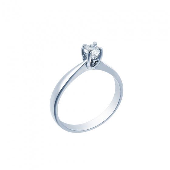 "Image of """"Eternity Premium 029"" white gold engagement ring K18 with VS2 diamond"""
