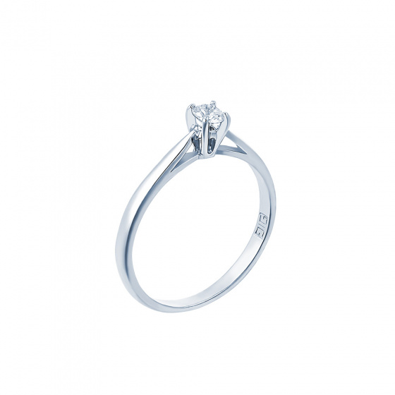 "Image of """"Eternity Plus 003"" white gold engagement ring K14"""