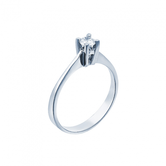 "Image of """"Eternity Plus 004"" white gold engagement ring K14"""