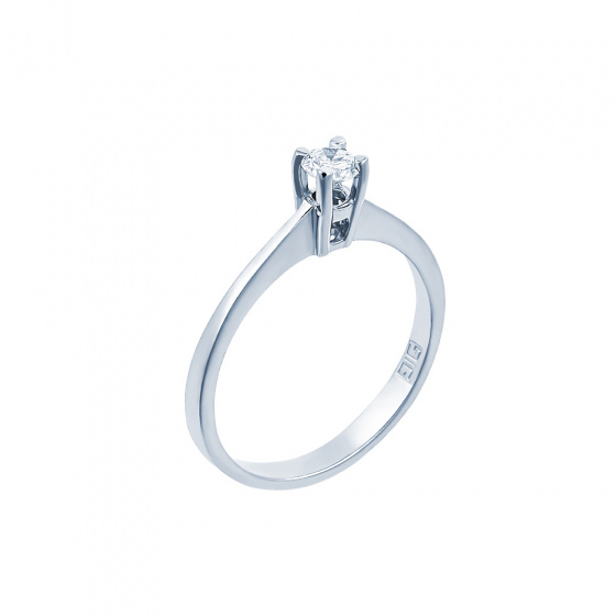"Image of """"Eternity Plus 005"" white gold engagement ring K14"""