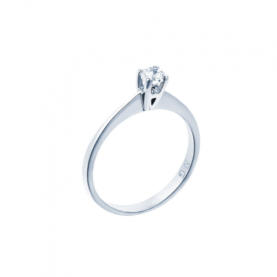 "Image of """"Eternity Plus 006"" white gold engagement ring K14"""