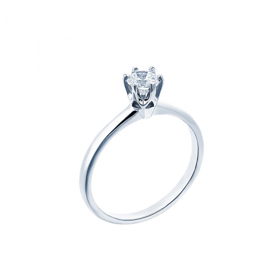 "Image of """"Eternity Plus 007"" white gold engagement ring K14"""