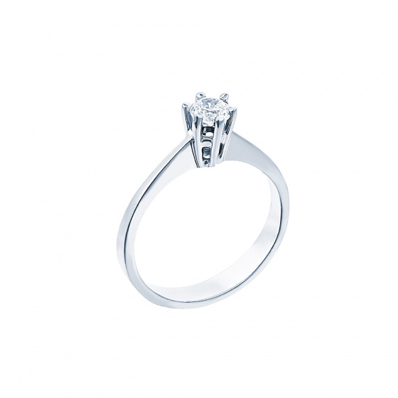 "Image of """"Eternity Plus 008"" white gold engagement ring K14"""