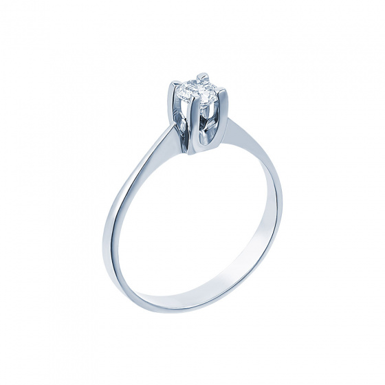 "Image of """"Eternity Plus 010"" white gold engagement ring K14"""