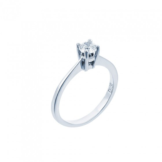"Image of """"Eternity Plus 011"" white gold engagement ring K14"""