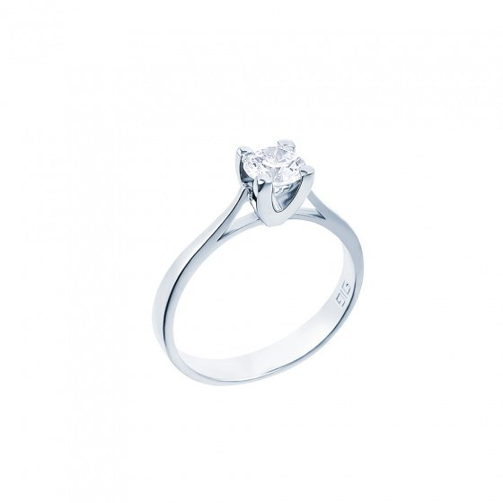 "Image of """"Eternity Plus 015"" white gold engagement ring K14"""