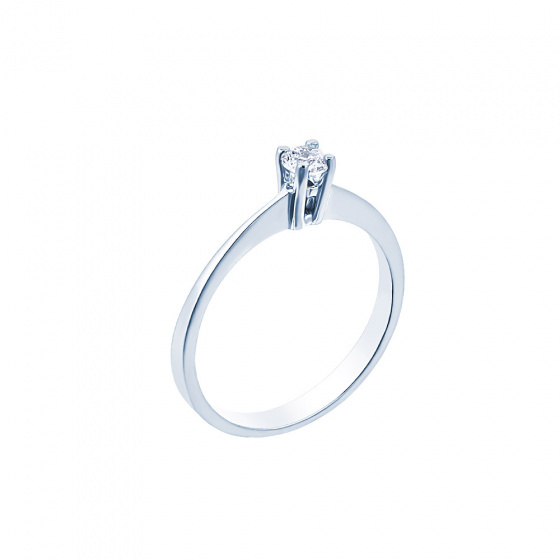 "Image of """"Eternity Plus 021"" white gold engagement ring K14"""