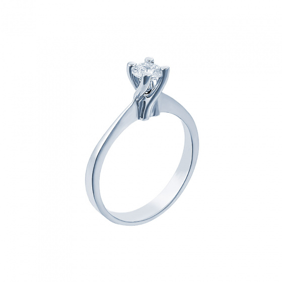 "Image of """"Eternity Plus 022"" white gold engagement ring K14"""