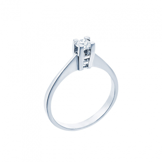 "Image of """"Eternity Plus 023"" white gold engagement ring K14"""