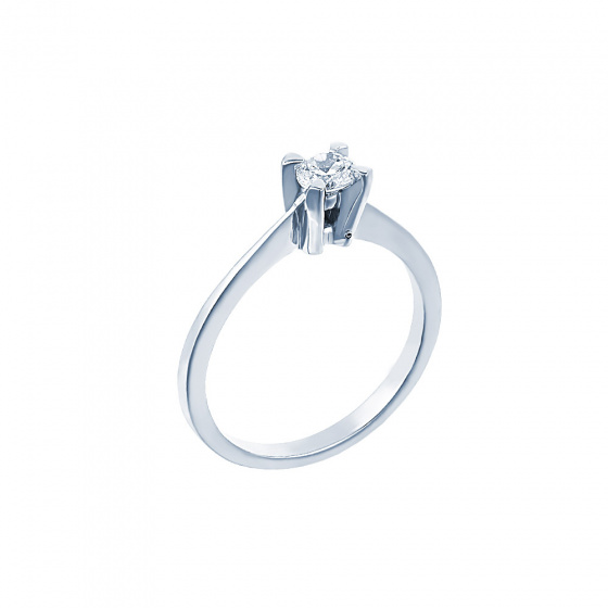 "Image of """"Eternity Plus 030"" white gold engagement ring K14"""