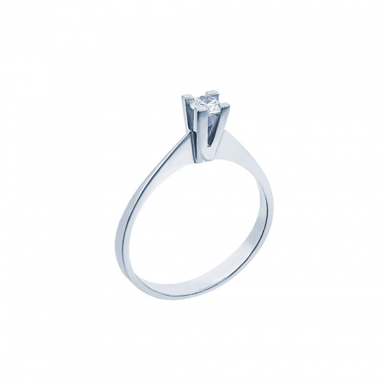 "Image of """"Eternity Plus 034"" white gold engagement ring K14"""