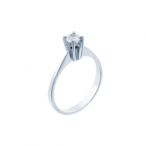 "Image of """"Eternity Plus 036"" white gold engagement ring K14"""
